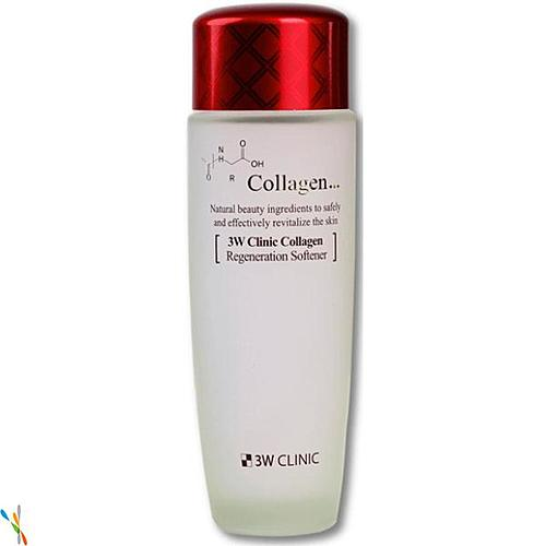 Скин-тоник для лица лифтинг с коллагеном Collagen regeneration softener, 3W Clinic