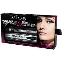 Подарочный набор Volume Lash Styler & Perfect Contour Kajal Waterproof, IsaDora