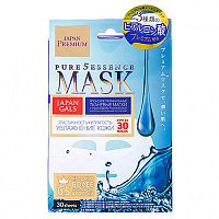 Маска для лица c гиалуроновой кислотой Hyaluronic acid face mask, Japan Gals