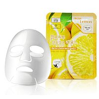 Маска тканевая для лица лимон - Fresh lemon mask sheet, 3W Clinic