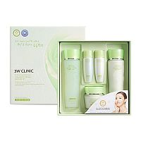 Набор для лица улиточный муцин Snail moist control skin care 3set, 3W Clinic