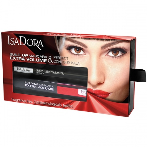 Подарочный набор Build-up Mascara Extra Volume & Perfect Contour Kajal, IsaDora