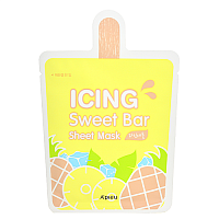 Маска тканевая с экстрактом ананаса Icing sweet bar sheet mask pineapple, A'PIEU