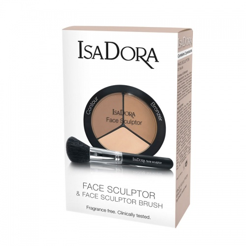 Подарочный набор Face Sculptor №03 Nude & Кисть для скульптурирования Face Sculptor Brush, IsaDora