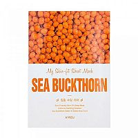 Маска тканевая c экстрактом облепихи My skin-fit sheet mask sea buckthorn, A'PIEU