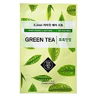 Маска тканевая с экстрактом зеленого чая 0.2 Therapy air mask green tea, Etude House